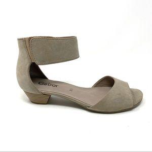 Gabor 85.850.12 ankle strap sandals Nubuck
